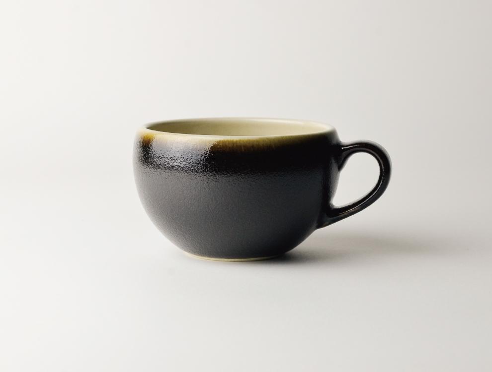 益子伝統釉_黒釉 スープボウル イメージ