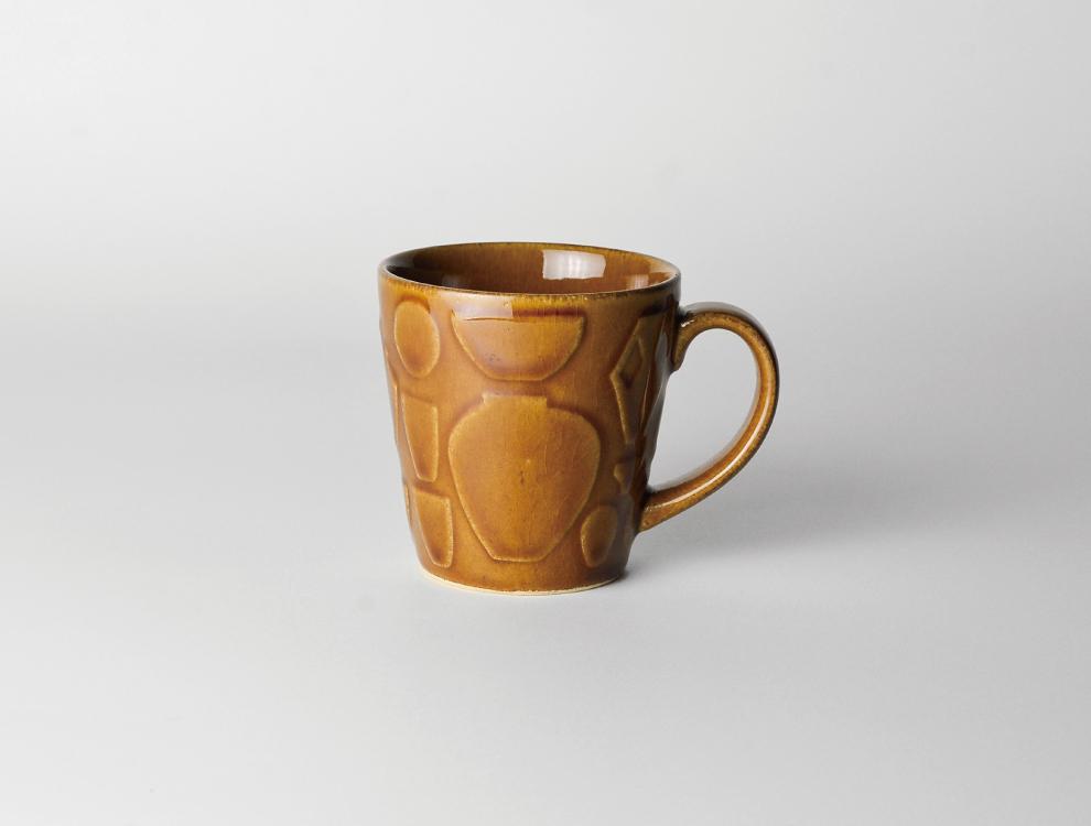 レリーフ_飴釉 マグカップ イメージ