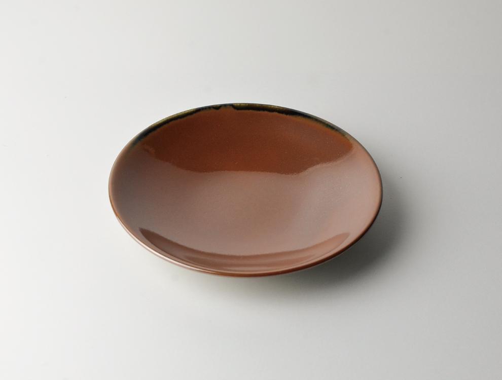 益子伝統釉_柿釉 ソーサーのイメージ