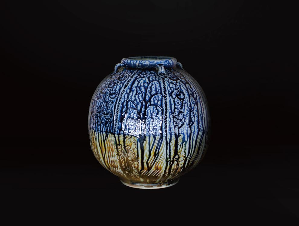 塩釉花紋壷Eのイメージ