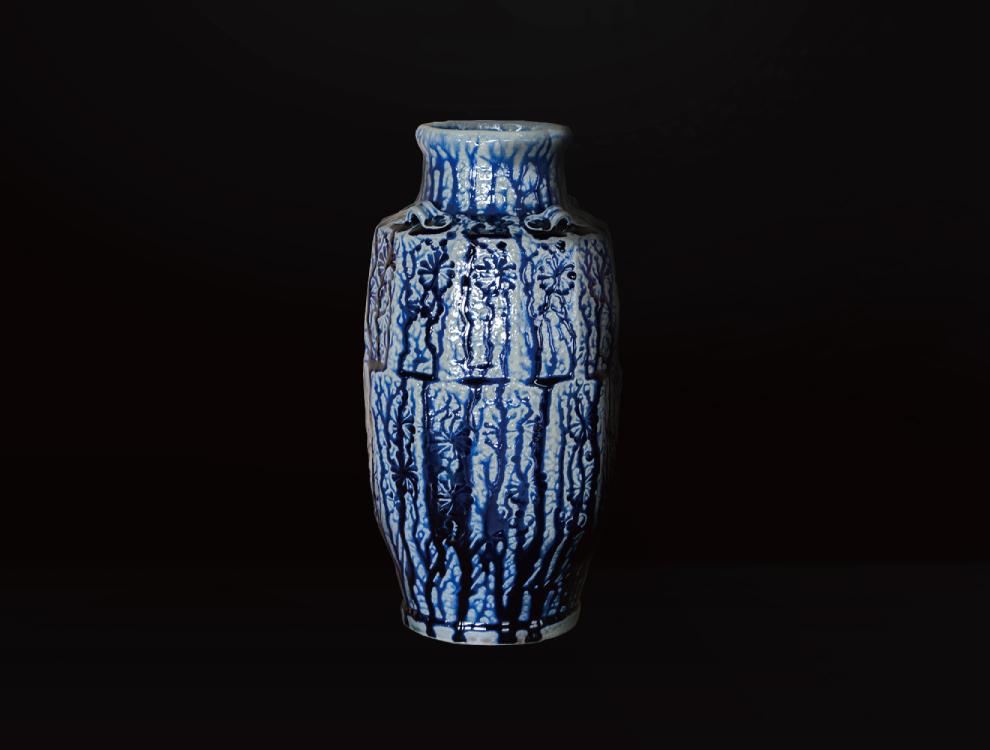 塩釉花紋壷Gイメージ