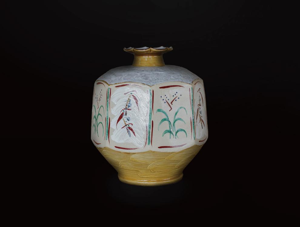 花紋銀彩壷Aのイメージ