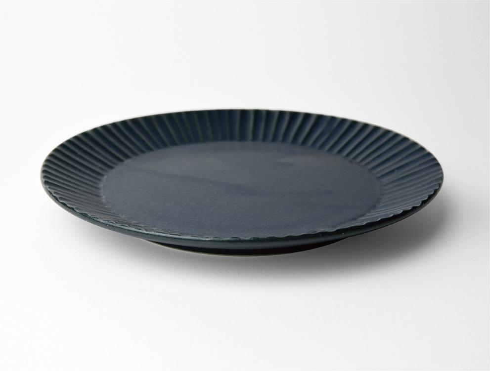 しのぎ_ブルーマット 5.5寸平皿 イメージ