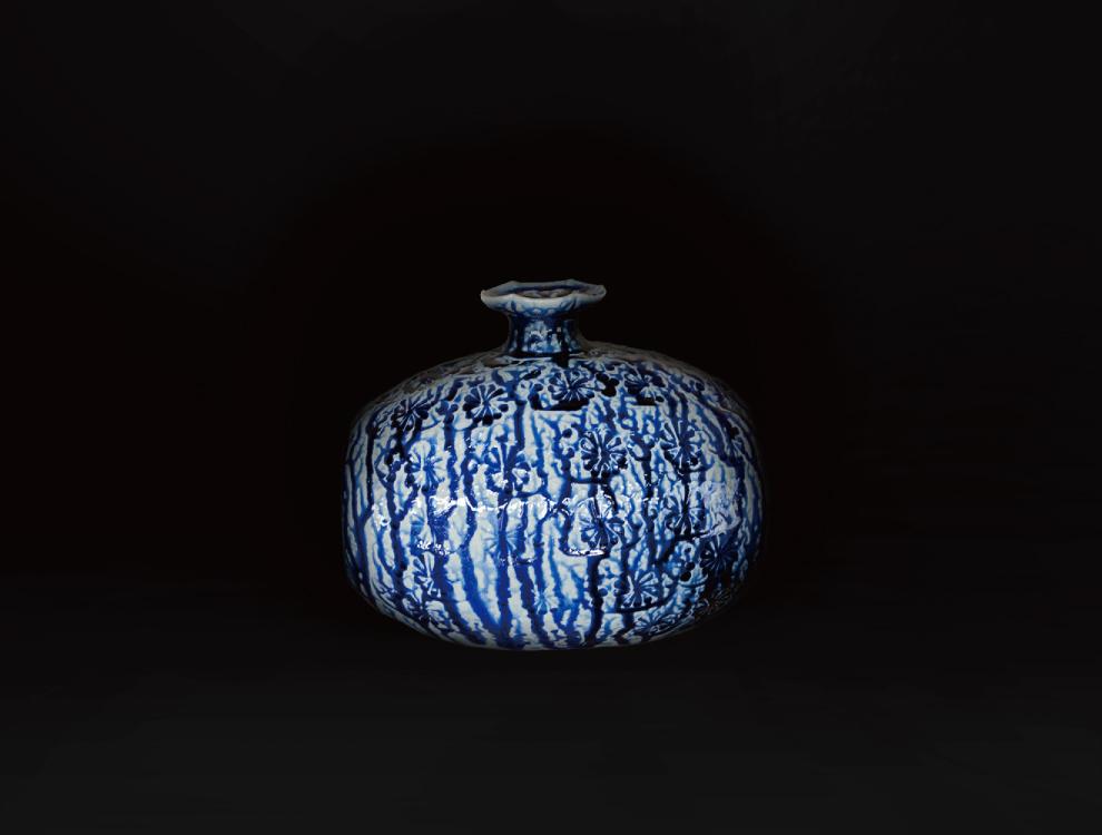 塩釉花紋俵壷のイメージ