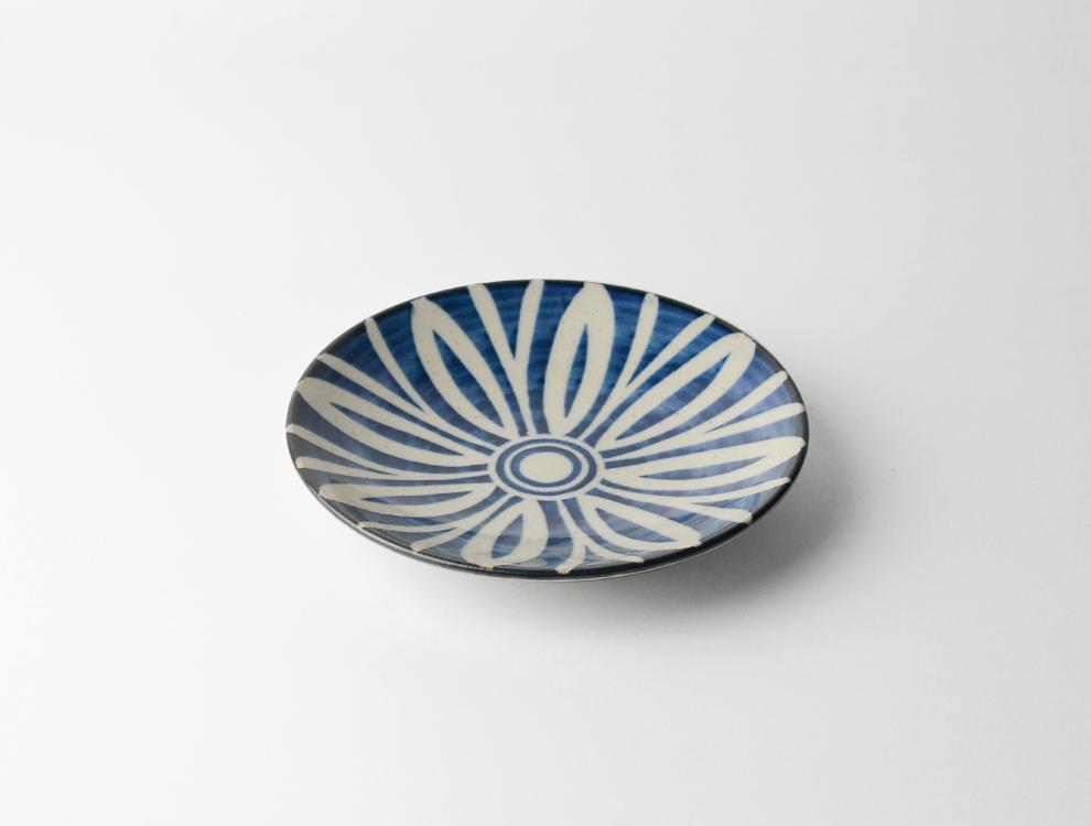 ペルシャ紋_呉須ペルシャ紋 5寸丸皿 イメージ