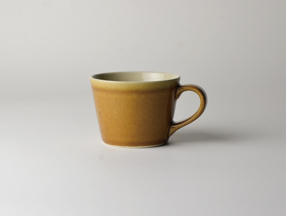 益子伝統釉_飴釉 コーヒーカップ イメージ