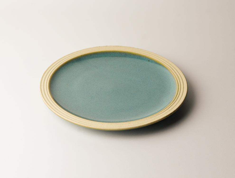 益子伝統釉_益子青磁釉 パン皿 イメージ