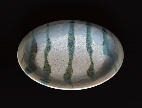 流掛銀彩大皿Aのイメージ