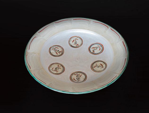 刷毛目花紋大皿のイメージ