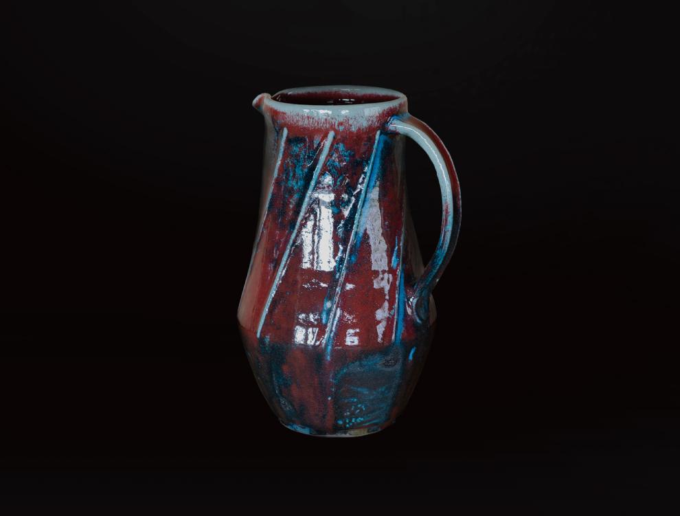 重焼辰砂窯変注瓶のイメージ