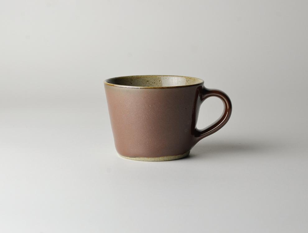 益子伝統釉_柿釉 コーヒーカップのイメージ