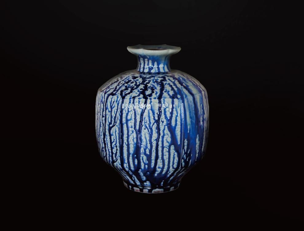 塩釉花紋壷Bイメージ