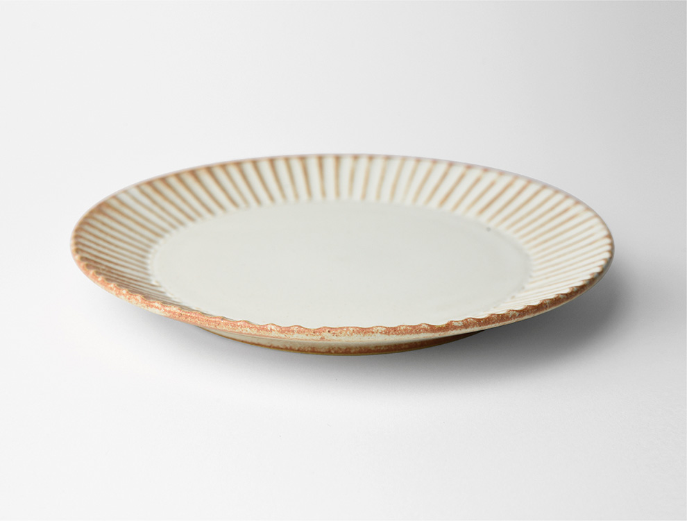 しのぎ_クリームマット 5.5寸平皿 イメージ