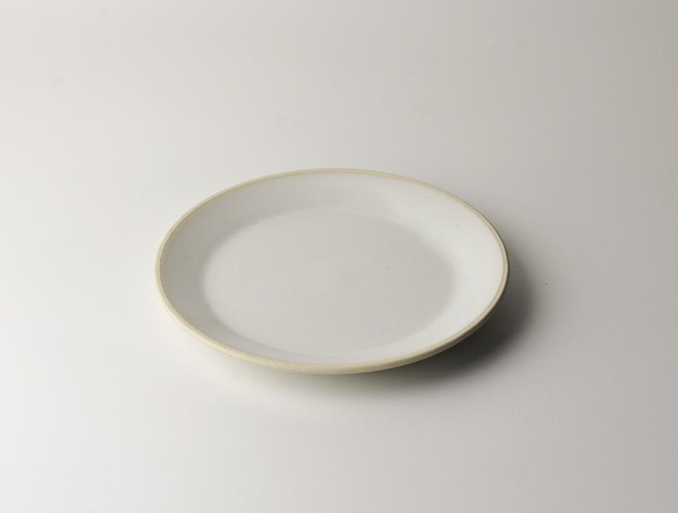 益子伝統釉_糠白釉 5.5寸平皿 イメージ