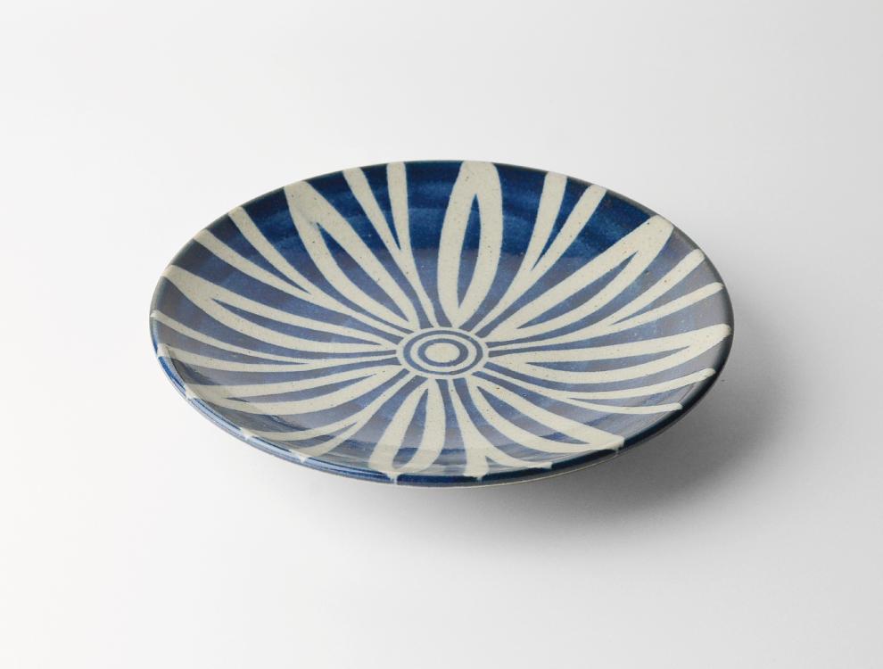 ペルシャ紋_呉須ペルシャ紋 7寸丸皿 イメージ
