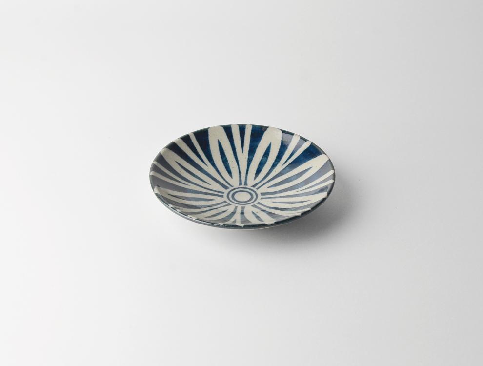 ペルシャ紋_呉須ペルシャ紋 4寸丸皿 イメージ