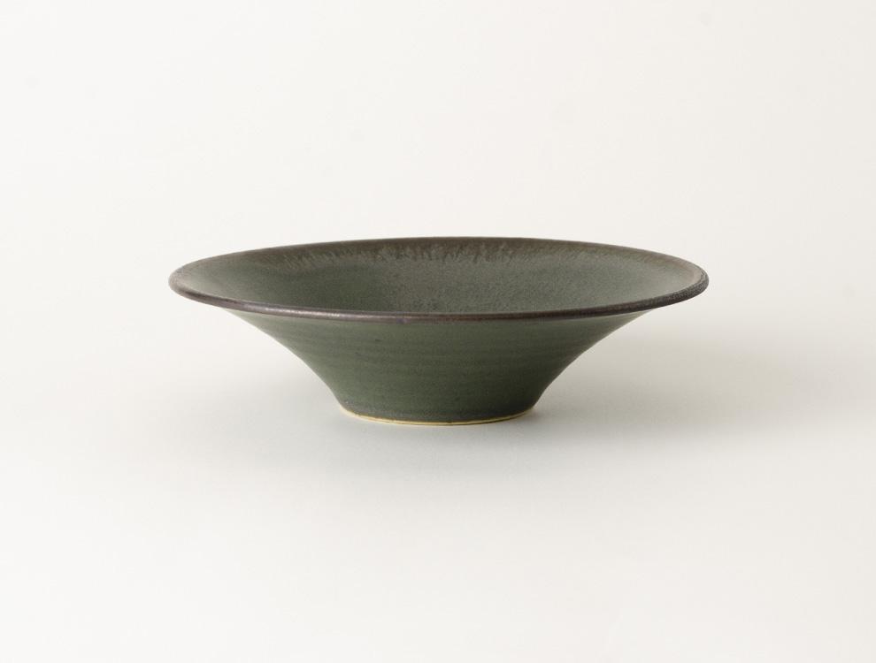 SABI_濃緑 平鉢 小 イメージ