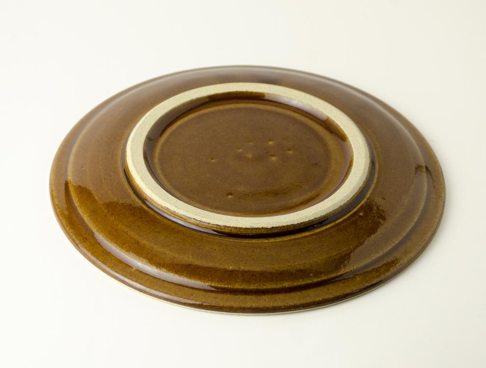 益子伝統釉_飴釉 パン皿のイメージ