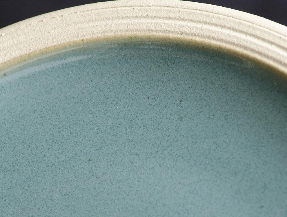 益子伝統釉_益子青磁釉 パン皿のイメージ