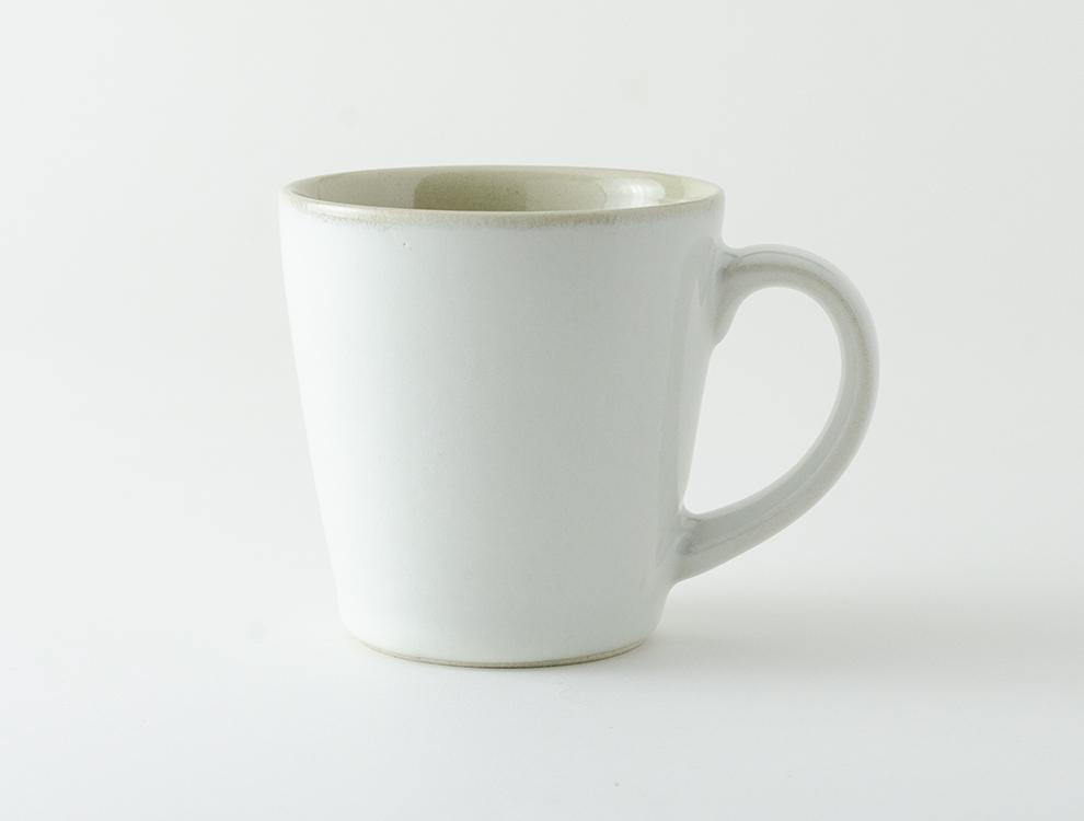 益子伝統釉_糠白釉 ロングマグカップのイメージ