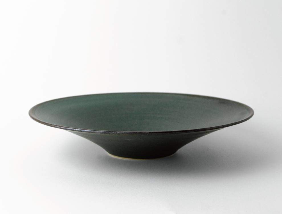 SABI_濃緑 平鉢 大 イメージ