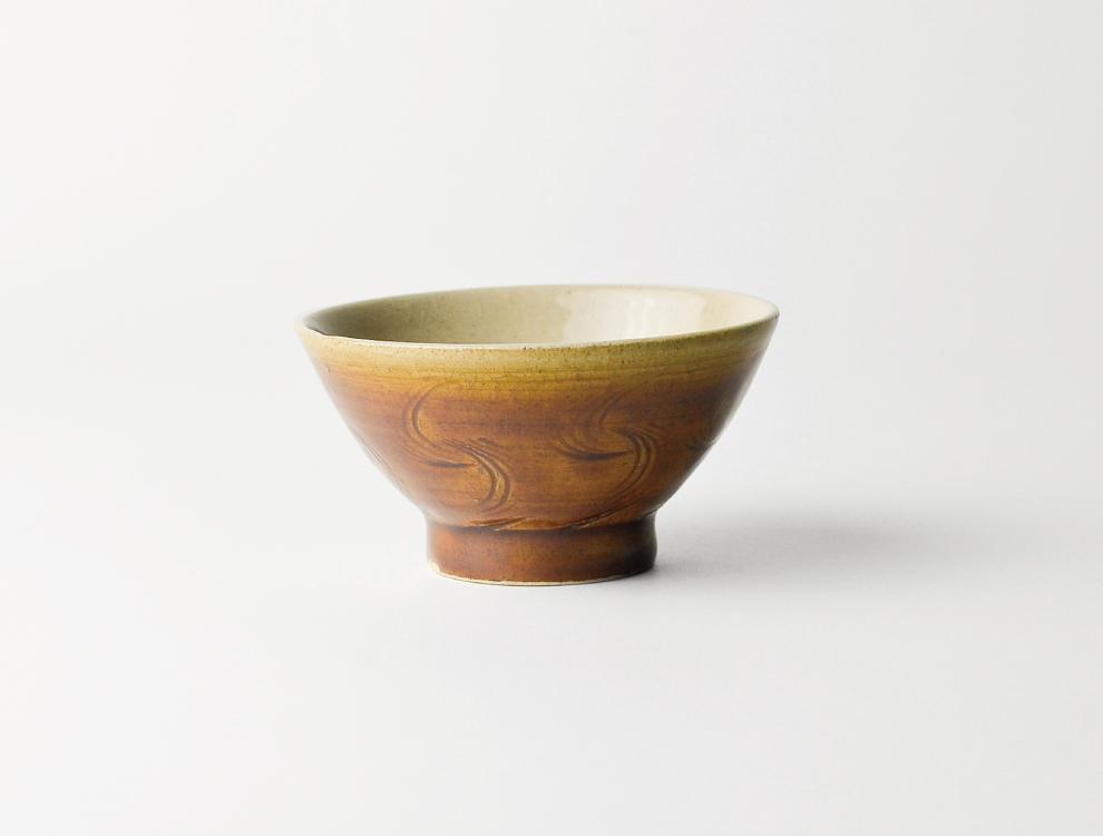 U TOCHIGI DESIGN_飴釉櫛目 湯呑のイメージ