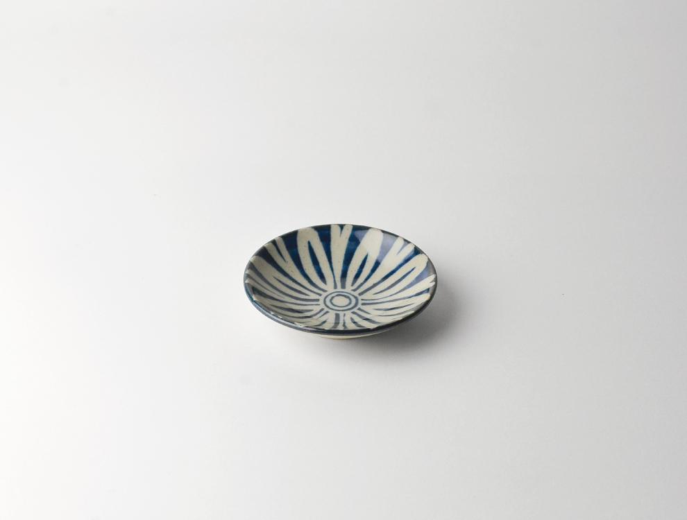 ペルシャ紋_呉須ペルシャ紋 3寸丸皿 イメージ