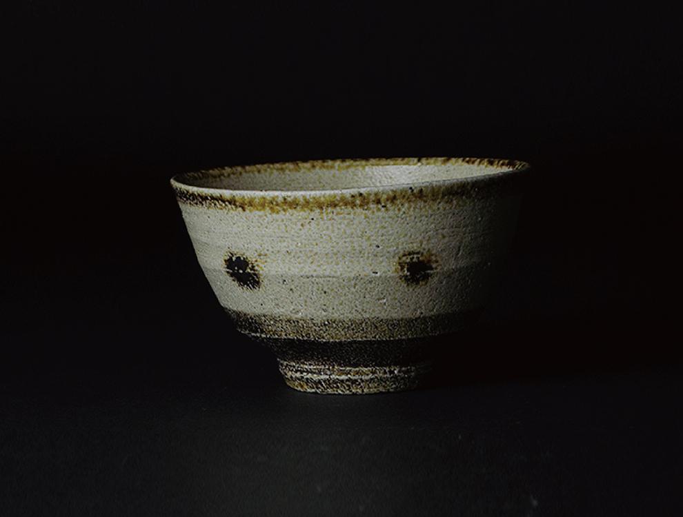 濱田晋作_塩釉紋打茶碗 イメージ