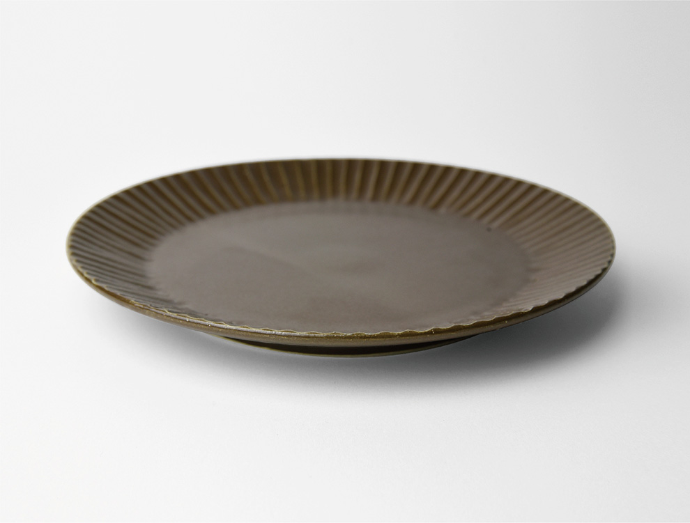 しのぎ_ブラウンマット 5.5寸平皿 イメージ