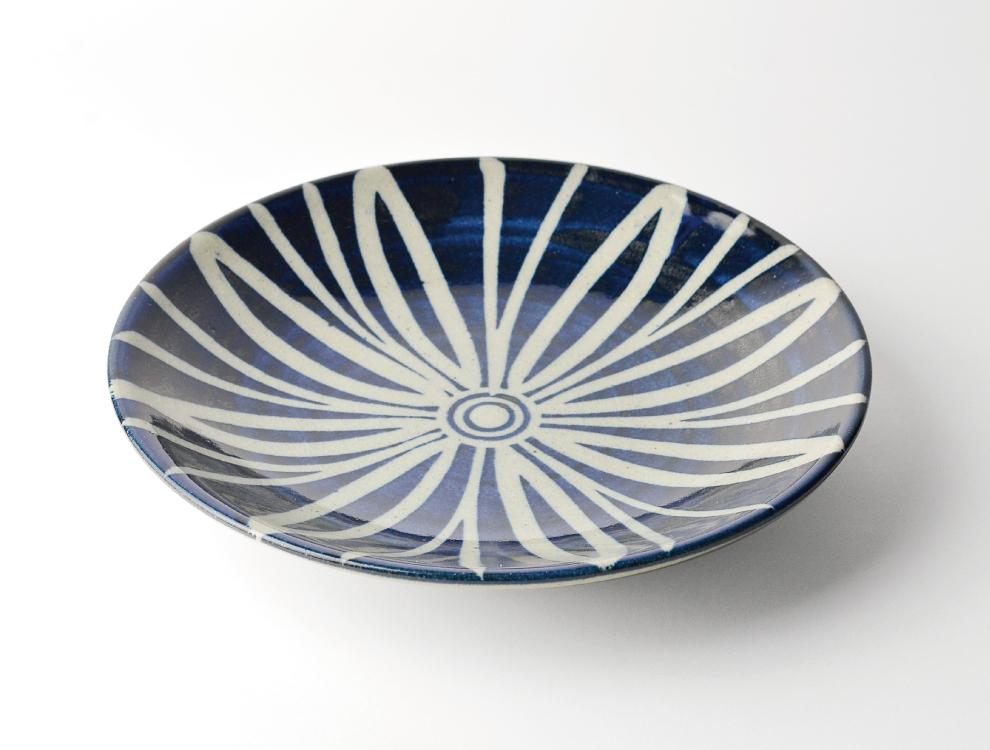 ペルシャ紋_呉須ペルシャ紋 8寸丸皿 イメージ