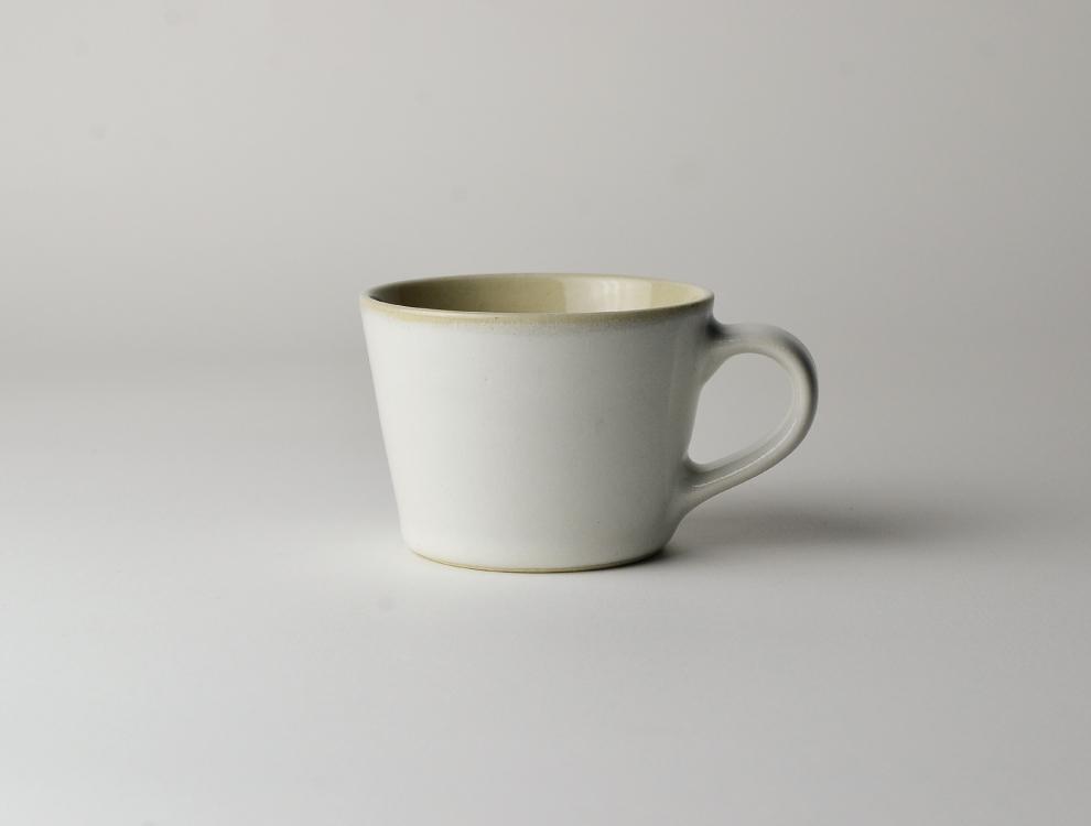 益子伝統釉_糠白釉 コーヒーカップ イメージ