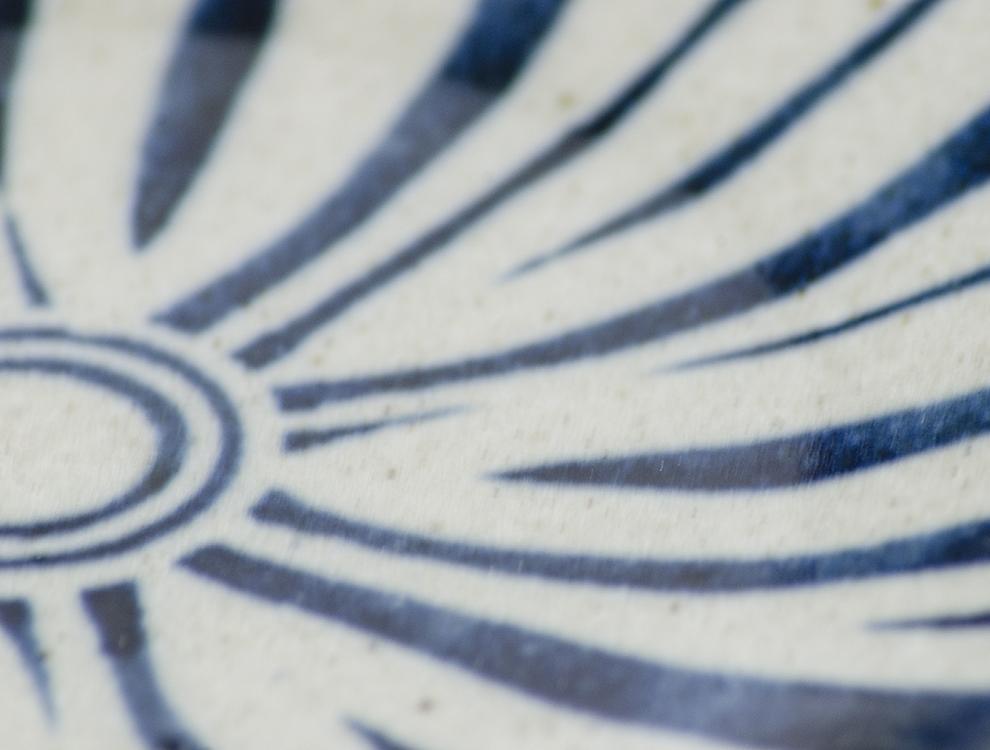 ペルシャ紋_呉須ペルシャ紋 7寸丸皿のイメージ