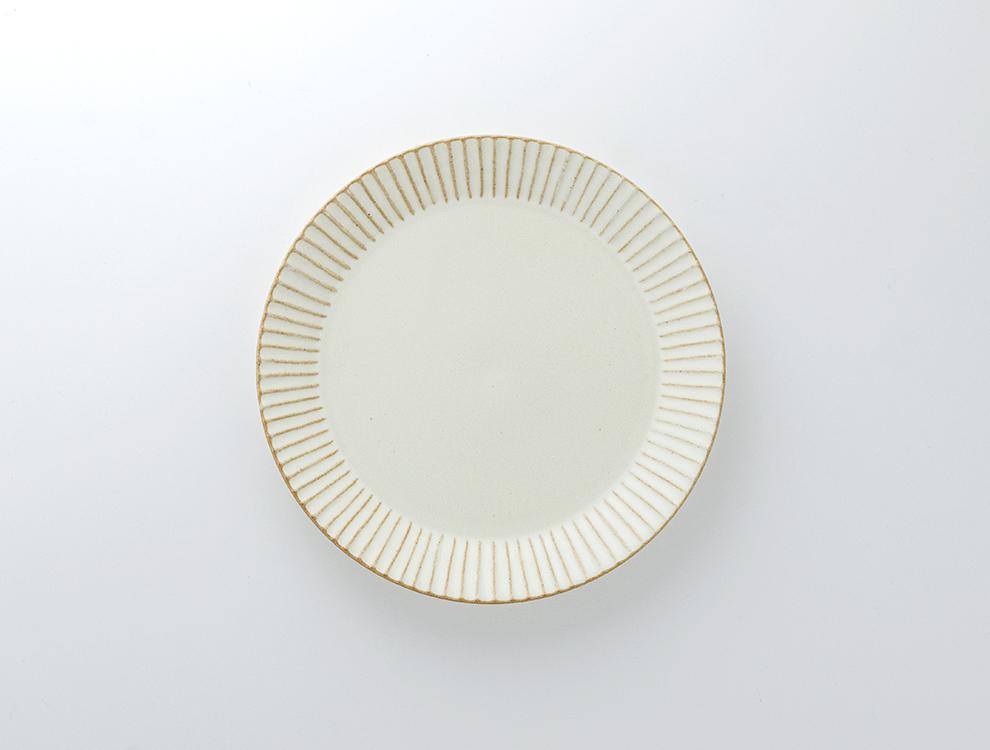 しのぎ_クリームマット 7寸平皿のイメージ