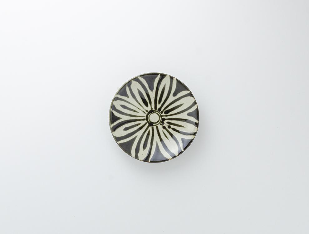 ペルシャ紋_黒ペルシャ紋 5寸丸皿のイメージ