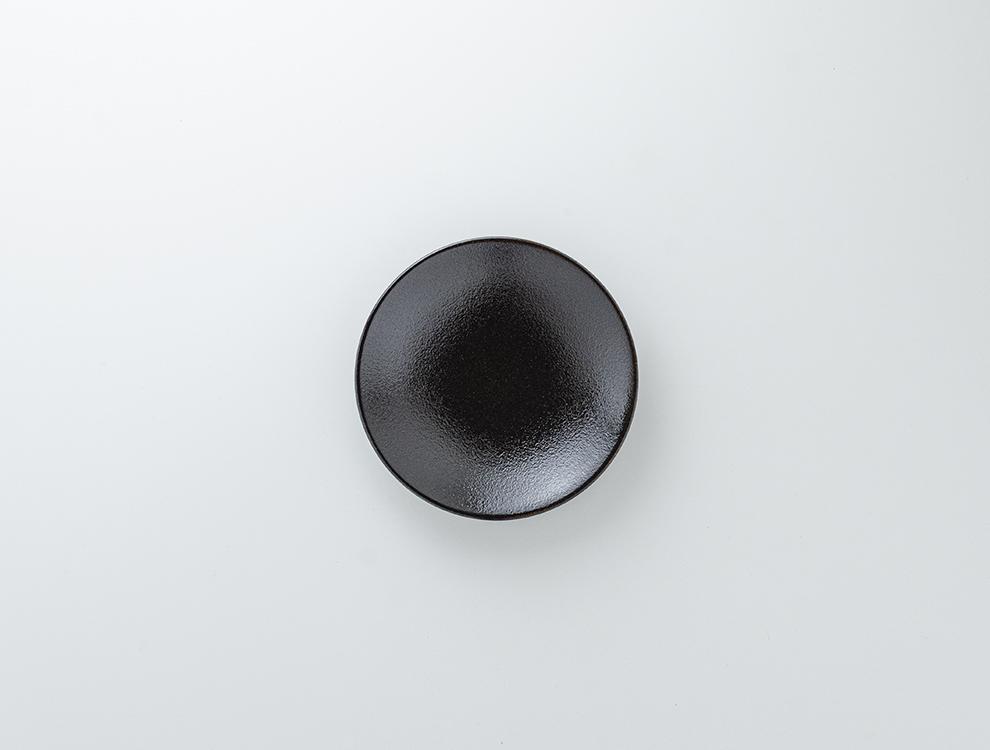 益子伝統釉_ゆず肌黒釉 ソーサーのイメージ