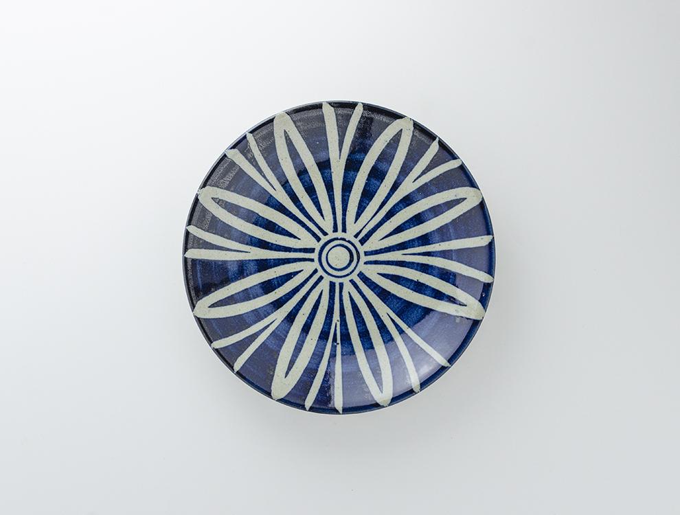 ペルシャ紋_呉須ペルシャ紋 8寸丸皿のイメージ