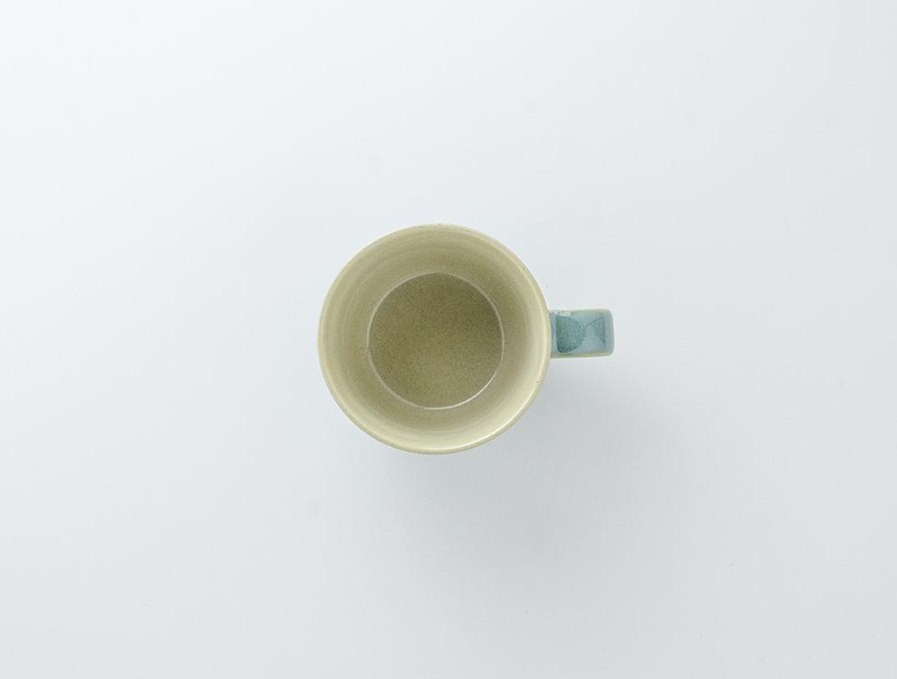 益子伝統釉_益子青磁釉 コーヒーカップのイメージ