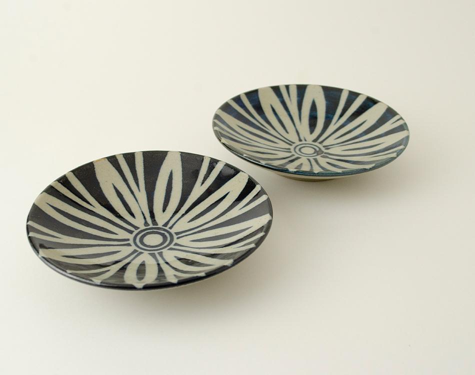 ペルシャ紋4寸丸皿セット(2つ入り) イメージ