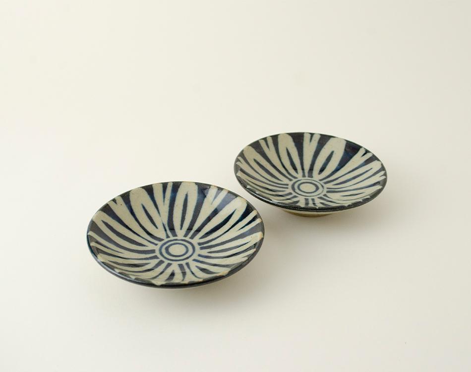 ペルシャ紋3寸丸皿セット(2つ入り) イメージ