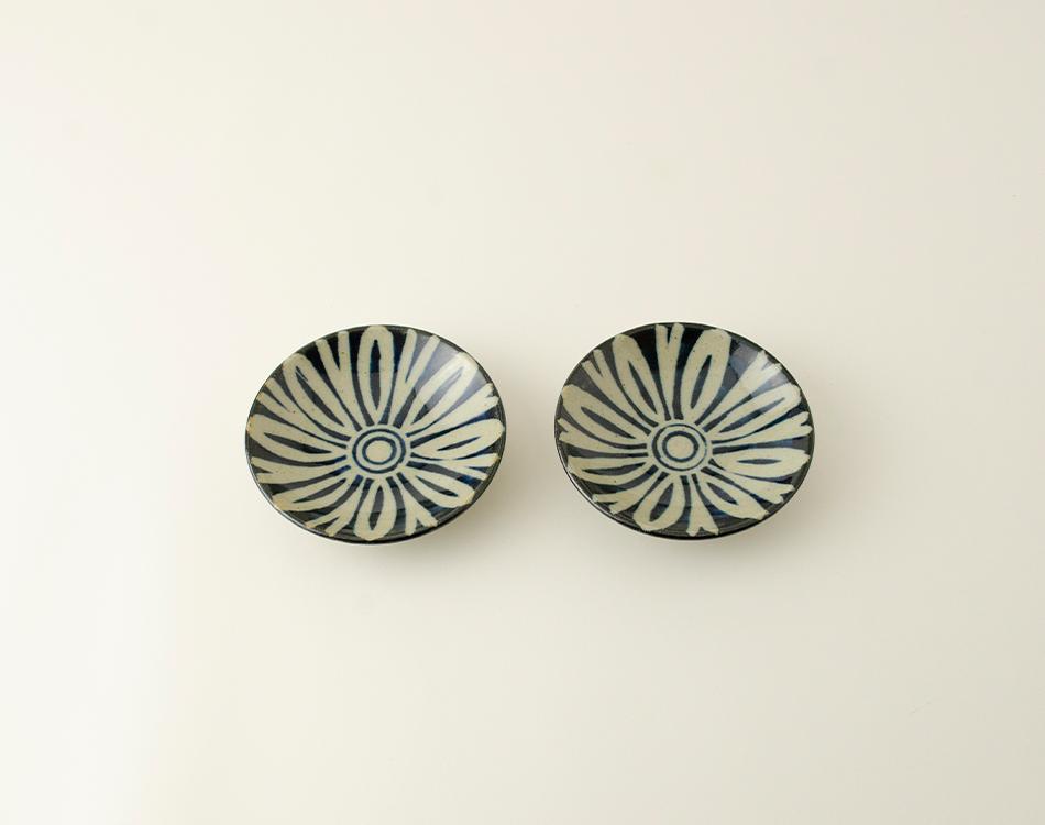 ペルシャ紋3寸丸皿セット(2つ入り)のイメージ