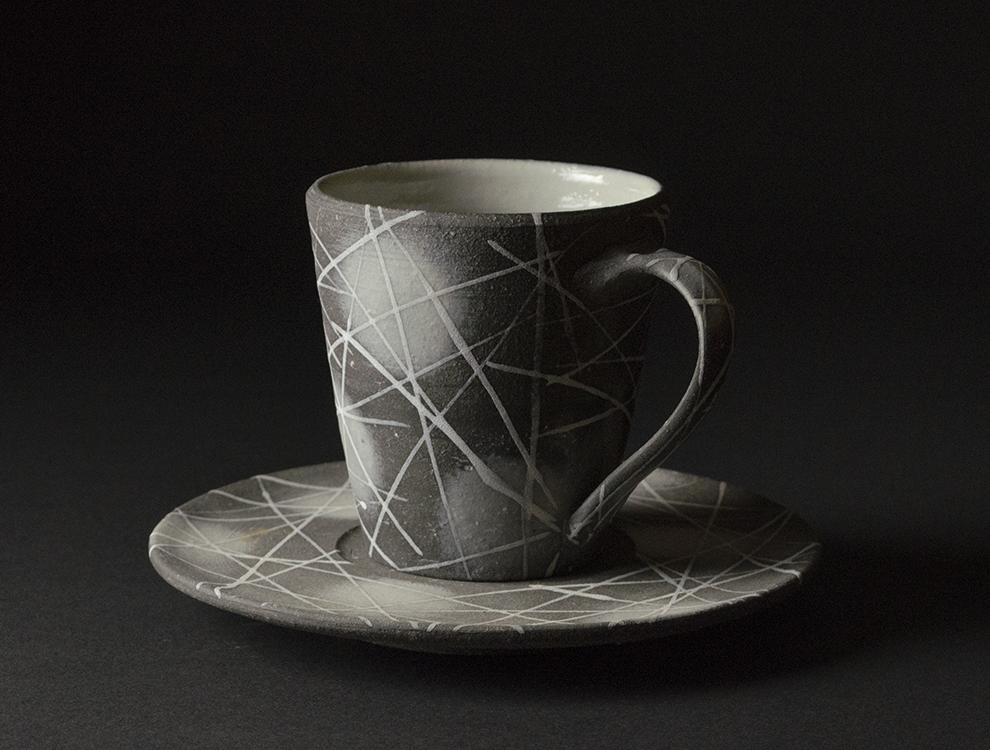 早川嘉_コーヒー碗皿 イメージ