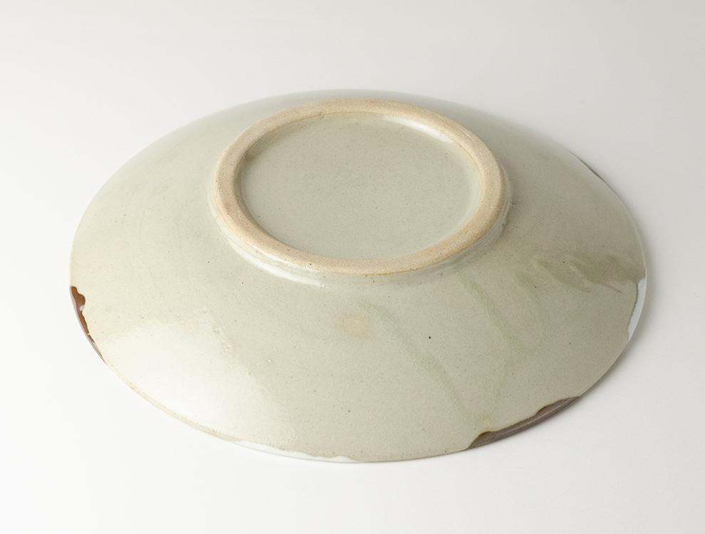 二彩_糠柿二彩 8寸丸皿のイメージ