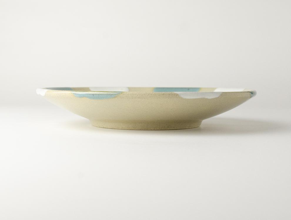 二彩_糠青二彩 7寸丸皿のイメージ