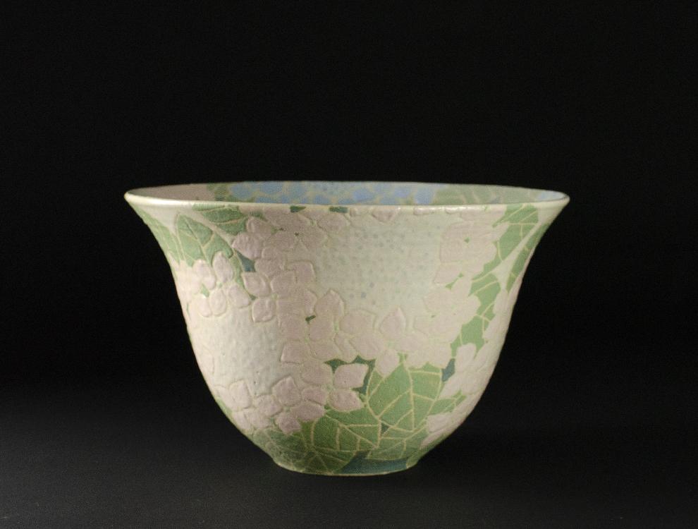 島田琴絵_紫陽花文鉢のイメージ