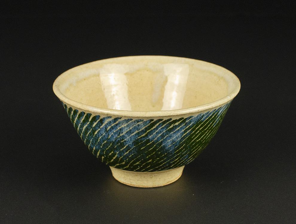 島岡桂_白釉縄文象嵌小鉢のイメージ