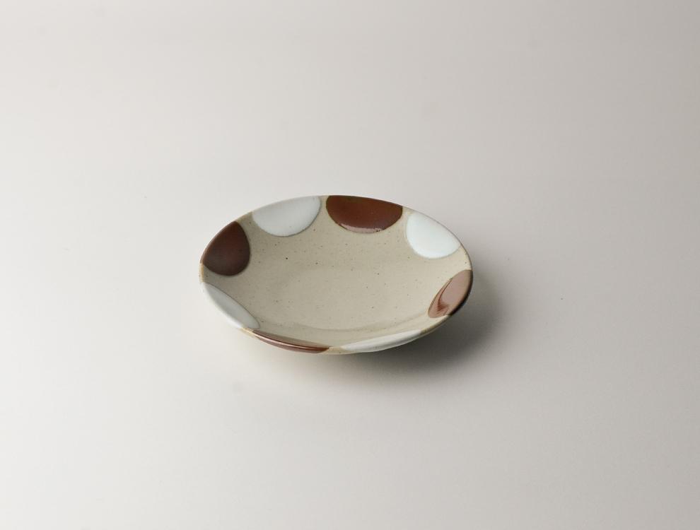 二彩_4寸丸皿 2枚セットのイメージ