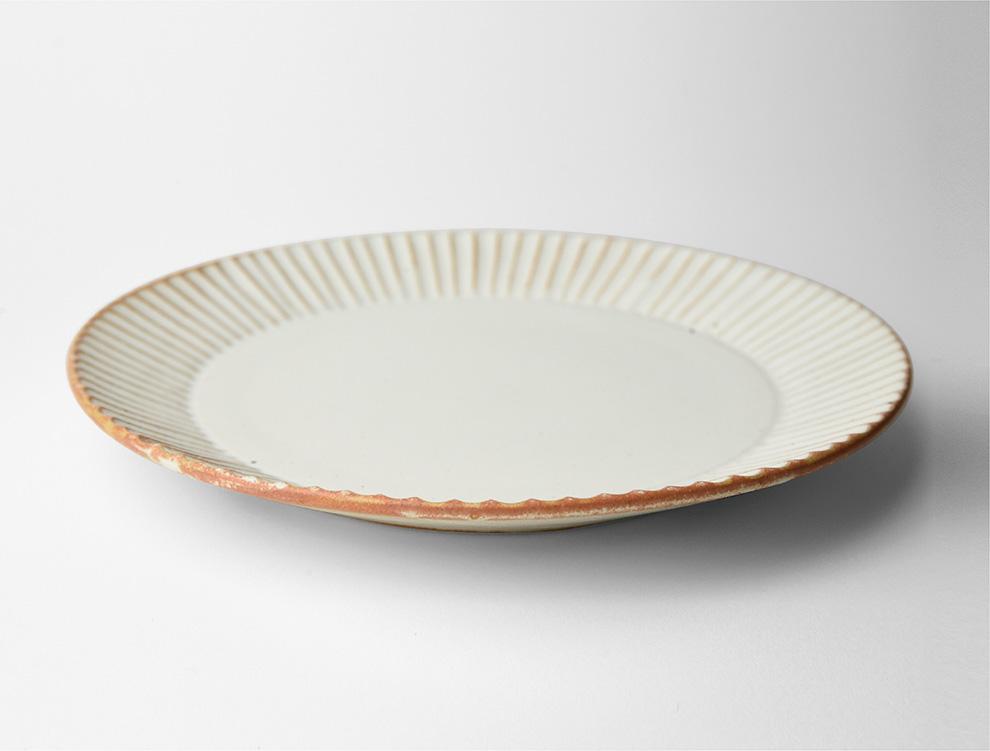 しのぎ_クリームマット 7寸平皿 イメージ