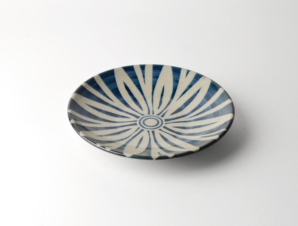 ペルシャ紋_呉須ペルシャ紋 6寸丸皿 イメージ