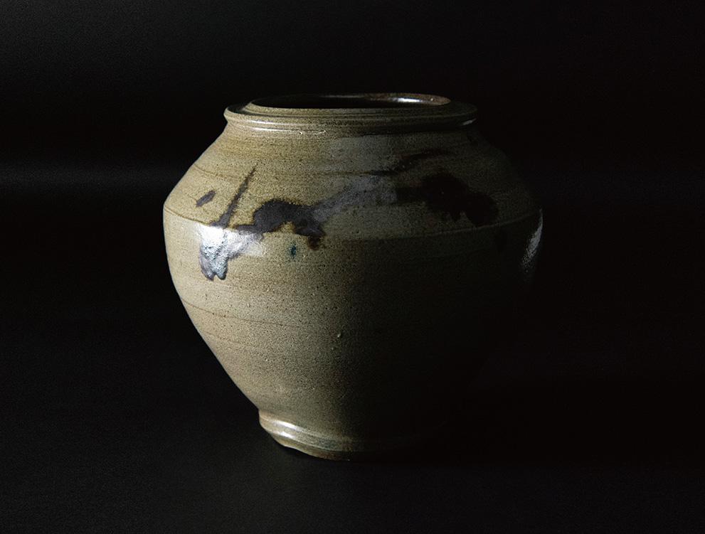 濱田庄司_塩釉鉄絵花瓶 イメージ