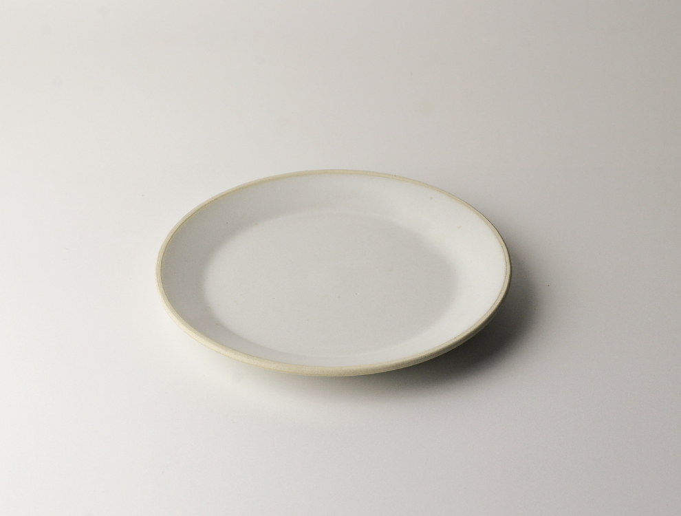 益子伝統釉_糠白釉 5.5寸平皿のイメージ